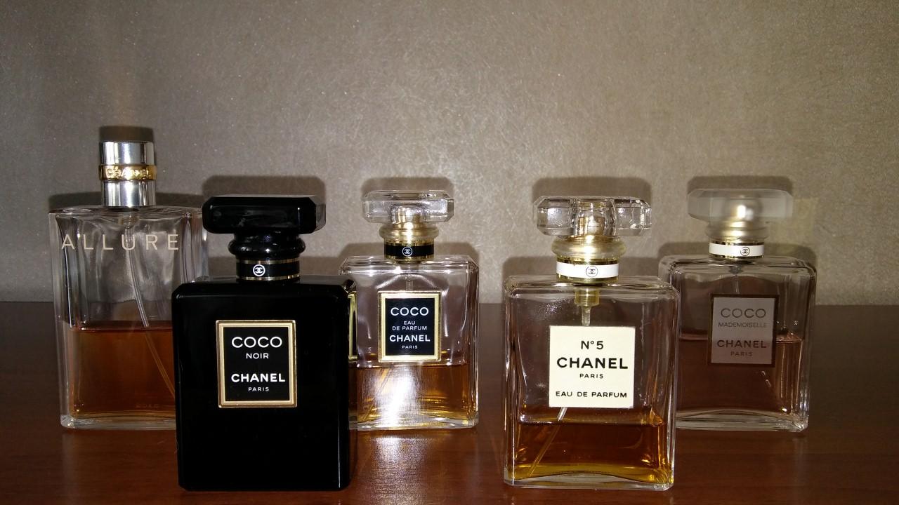 kolekcja perfum Chanel Givenchy Dior Guerlain 01